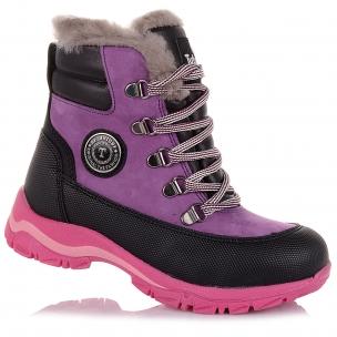 Дитяче взуття PERLINKA (Яскраві зимові черевики із шкіри та нубуку)