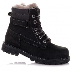 Детская обувь PERLINKA (Зимние ботинки из нубука, на шнуровке)