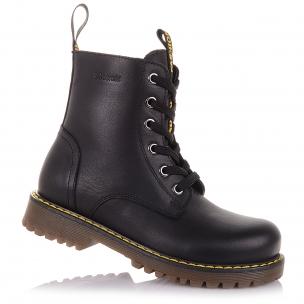 Детская обувь PERLINKA (Кожаные демисезонные ботинки на шнуровке)