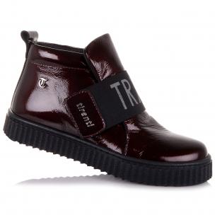 Детская обувь PERLINKA (Лаковые демисезонные ботинки на липучке)