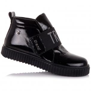 Детская обувь PERLINKA (Лаковые демисезонные ботинки на ребристой подошве)