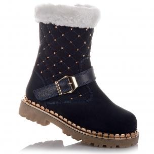 Детская обувь PERLINKA (Нарядные зимние сапоги из замши)