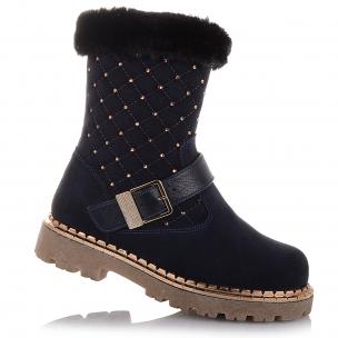 Детская обувь PERLINKA (Зимние замшевые сапоги с декором )
