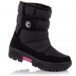 Детская обувь PERLINKA (Зимние дутики с шерстяной отделкой)