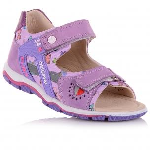 Дитяче взуття PERLINKA (Босоніжки з нубуку та текстилю, з принтом