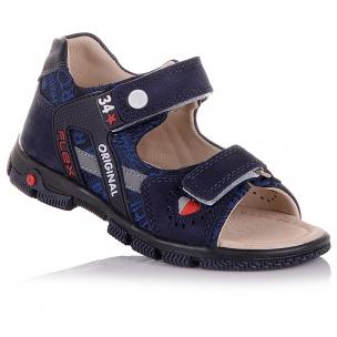 Дитяче взуття PERLINKA (Темно-сині босоніжки на липучках)