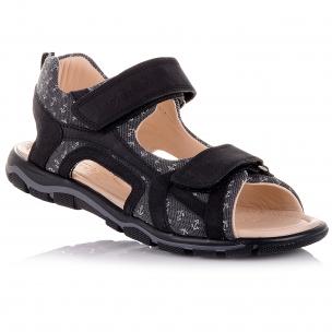 Дитяче взуття PERLINKA (Босоніжки з текстилю та нубуку, з принтом