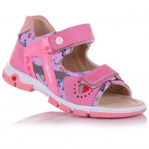 Дитяче взуття PERLINKA (Текстильні босоніжки із вставками з нубуку)