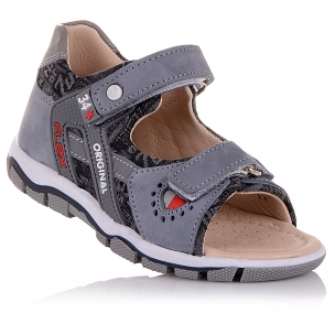 Дитяче взуття PERLINKA (Сірі босоніжки із закритою п'ятою)