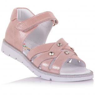 Детская обувь PERLINKA (Нежно-розовые босоножки из нубука)