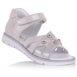 Детская обувь PERLINKA (Босоножки из нубука, с декором)