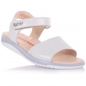Дитяче взуття PERLINKA (Білі босоніжки з нубуку)