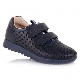 Дитяче взуття PERLINKA ( Шкіряні сині кросівки з перфорацією)