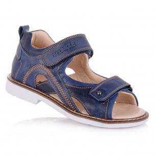Детская обувь PERLINKA (Полузакрытые босоножки в темно-синей коже)