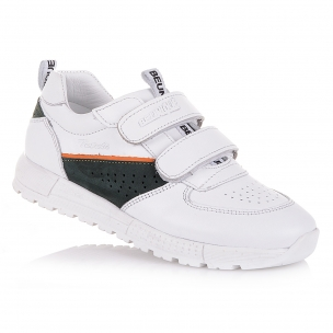 Дитяче взуття PERLINKA (Білі кросівки з натуральної шкіри)
