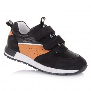 Дитяче взуття PERLINKA (Чорні кросівки з натуральної шкіри)