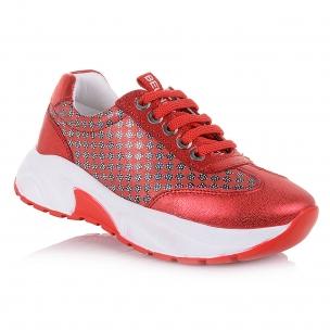 Дитяче взуття PERLINKA (Модні червоні кросівки на широкій підошві)
