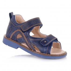 Детская обувь PERLINKA (Ортопедические босоножки в темно-синей коже)