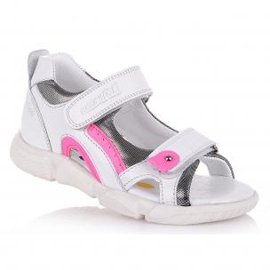 Дитяче взуття PERLINKA (Білі босоніжки на дівчинку)