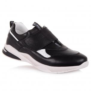 Дитяче взуття PERLINKA (Чорні шкіряні кросівки на хлопчика)
