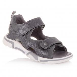 Дитяче взуття PERLINKA (Сірі босоніжки на двох липучках)