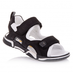 Дитяче взуття PERLINKA (Чорні спортивні босоніжки з нубуку)