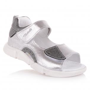 Дитяче взуття PERLINKA (Сріблясті босоніжки на дівчинку)