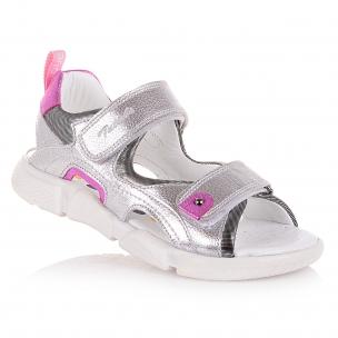 Детская обувь PERLINKA (Серебристые босоножки на двух липучках)