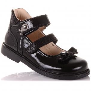 Дитяче взуття PERLINKA ( Лакові туфлі на двох липучках)