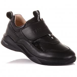 Дитяче взуття PERLINKA (Чорні кросівки на широкій липучці)