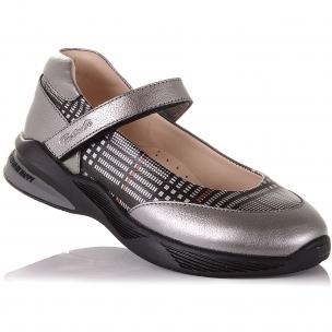 Детская обувь PERLINKA (Серые туфли на модной подошве )