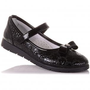 Дитяче взуття PERLINKA ( Шкільні лакові туфлі на липучці)