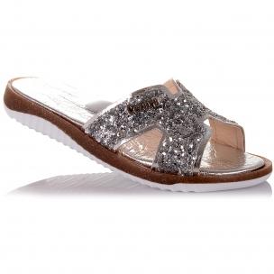 Детская обувь PERLINKA (Стильные шлепанцы с пайетками)