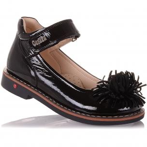 Дитяче взуття PERLINKA ( Лакові туфлі з квіткою)