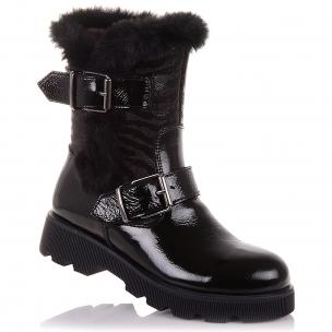 Детская обувь PERLINKA (Лаковая зимняя обувь на молнии)