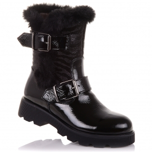 Дитяче взуття PERLINKA ( Лакова зимове взуття на блискавки)