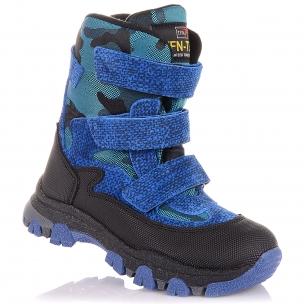 Детская обувь PERLINKA (Яркие зимние сапоги из замши и текстиля)