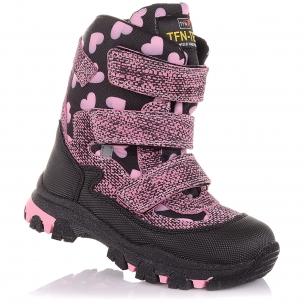 Дитяче взуття PERLINKA ( Зимові черевики з замші та текстилю)
