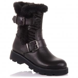Дитяче взуття PERLINKA (Зимові чоботи зі шкіри та нубуку на змійці)