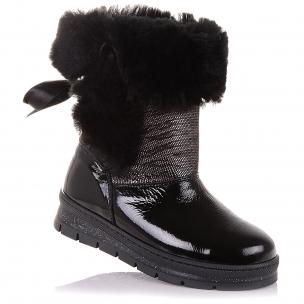 Дитяче взуття PERLINKA (Зимові чоботи з нубуку та лакованої шкіри)