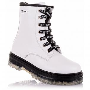 Дитяче взуття PERLINKA (Білі демісезонні черевики з натуральної шкіри)