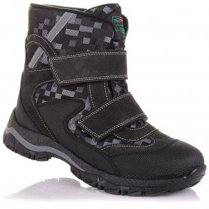 Детская обувь PERLINKA (Зимние ботинки из замши и текстиля)