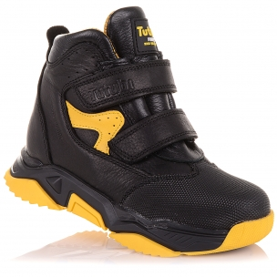Детская обувь PERLINKA (Демисезонные ботинки из кожи на яркой подошве)