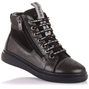 Дитяче взуття PERLINKA ( Демісезонні черевики на шнурках і блискавки)