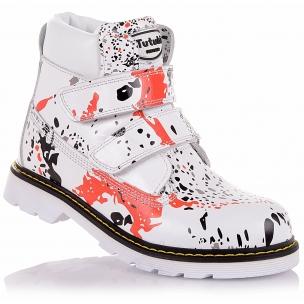Детская обувь PERLINKA (Демисезонные ботинки из кожи на двух липучках)
