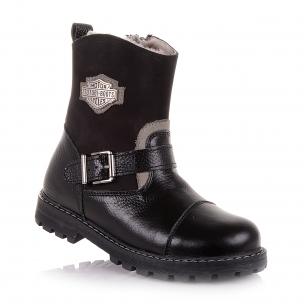 Детская обувь PERLINKA (Зимние сапоги из кожи и нубука на змейке)