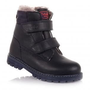 Детская обувь PERLINKA (Зимние ботинки из кожи на липучках)