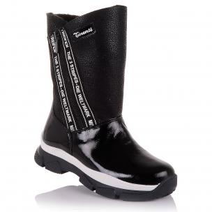 Дитяче взуття PERLINKA ( Зимові чоботи з нубуку та лакованої шкіри)