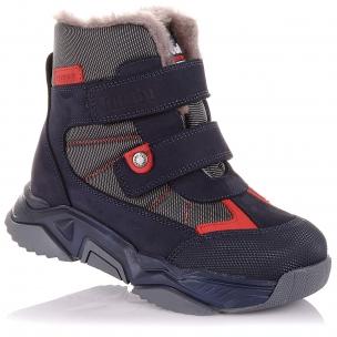 Детская обувь PERLINKA (Зимние ботинки из нубука и текстиля)