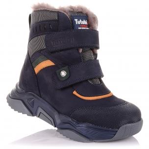 Детская обувь PERLINKA (Зимние ботинки из нубука на массивной подошве)